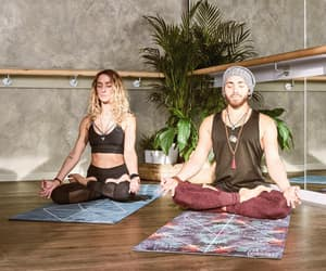 exercise, meditation, and poses image