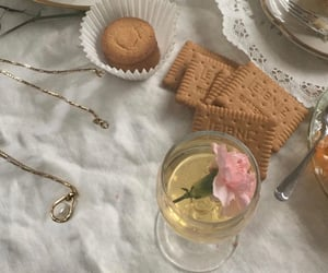 biscuits, table, and drinks image