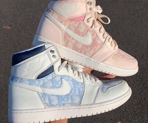 nike, dior, and shoes image