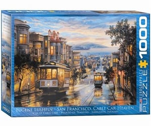 cable car, san francisco, and puzzle image