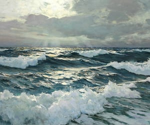 sea, art, and painting image