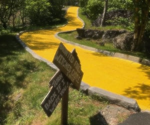 Wizard of oz, yellow, and yellow brick road image