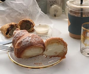 food, croissant, and aesthetic image