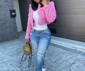 outfits, pink, and melanin image