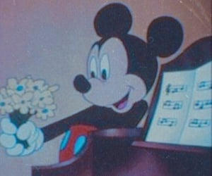 aesthetic, mickey mouse, and disney image