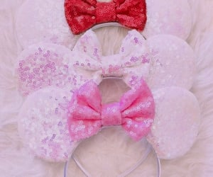 aesthetic, minnie mouse, and bows image