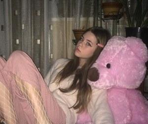 bear, girl, and Lazy image
