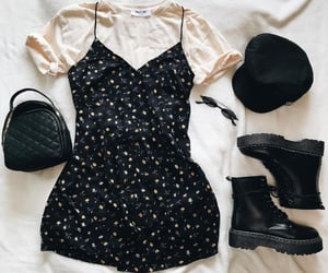 black, look, and dress image