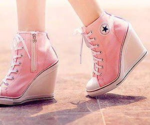 converse all star, heels, and fashion image