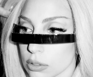 black and white, Lady gaga, and celebrities image
