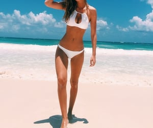abs, girl, and beach image