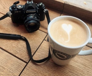 camera, coffe, and photography image