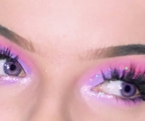 baby, eyes, and glitter image