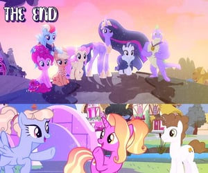 cartoon, ponies, and friendship is magic image