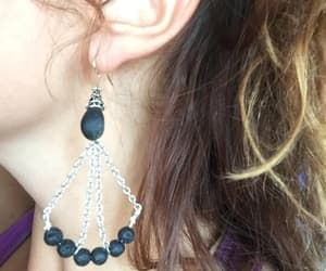 etsy, obsidian, and obsidian earrings image