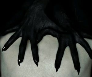 hands, dark, and demon image