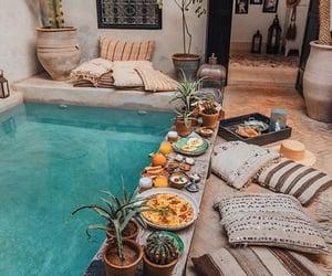 pool, food, and home image