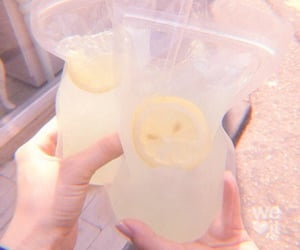 aesthetic, lemonade, and carefree image
