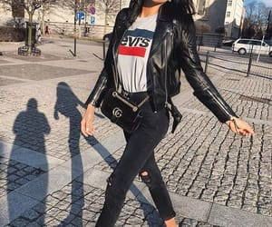 black, jeans, and lady image
