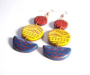 etsy, modern earrings, and geometric earrings image