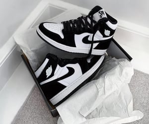 black and white, street style, and unboxing image