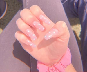 nails, carefree, and aesthetic image