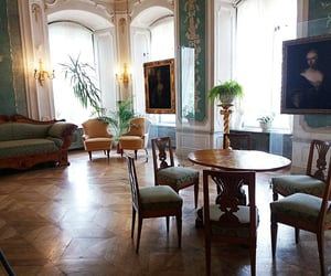antique, paintings, and armchairs image
