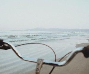 beach, bike, and summer image