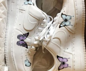 butterfly, shoes, and nike image