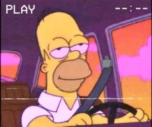 gif, homer, and the simpsons image