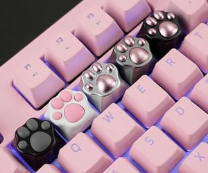 pink, cute, and keyboard image