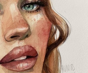 art, beautiful, and lips image