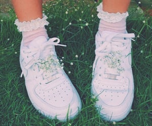 shoes, aesthetic, and flowers image
