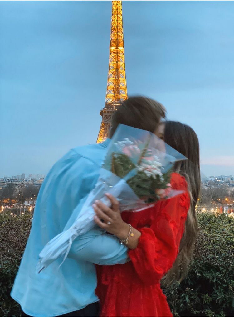 article, eiffel tower, and flowers image
