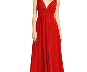 long dress, red dress, and azazie image