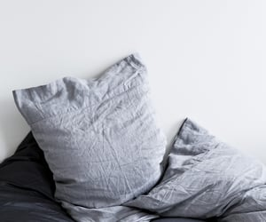pillow, grey, and bed image