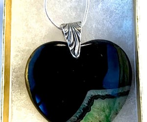 etsy, heart shaped, and silver image