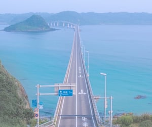 road, japan, and blue image