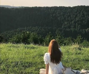nature, forest, and girl image