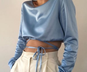 fashion, blue, and aesthetic image