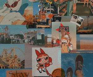 orange, blossom, and cartoon image