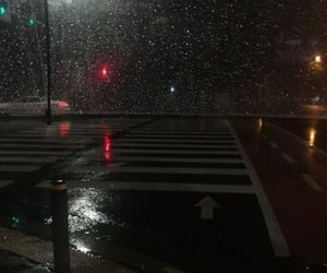 aesthetic, night, and rain image