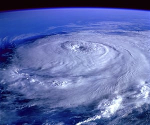 earth, space, and hurricane image