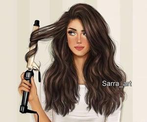 art, beautiful, and hair image