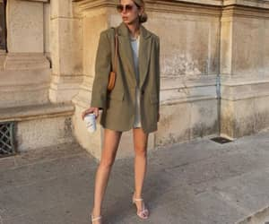 blazer, handbag, and outfit image