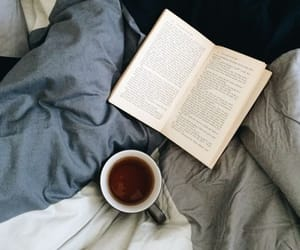 book, cozy, and tea image