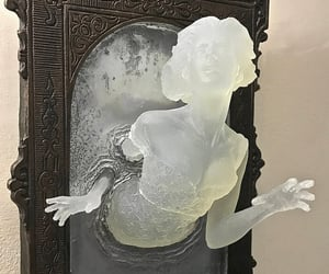 art, sculpture, and ghost image