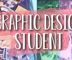 art student, college, and graphic design image