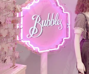 aesthetic, bubbles, and girl image