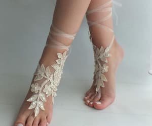 beach party, beach shoes, and foot jewelry image